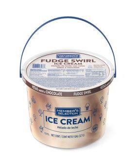 Member's Selection Fudge Swirl Ice Cream 1 Gallon/3.7 Litre