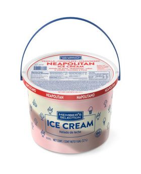 Member's Selection Neapolitan Ice Cream 1 Gallon/3.7 Litre