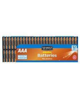 Member's Selection AAA Alkaline Batteries 52 Pack