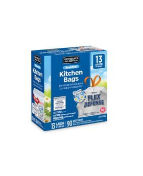 Member's Selection Scented Kitchen Trash Bags 13 Gallon 90 Count