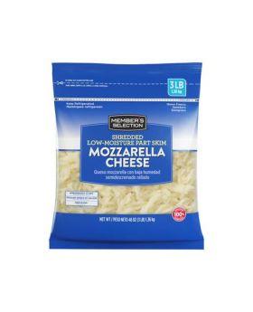 Member's Selection Shredded Low-Moisture Part Skim Mozzarella Cheese 1.36 kg/3 lbs