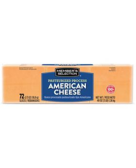 Member's Selection Pasteurized Process American Cheese 1.36 kg/3 lbs 72 Slices