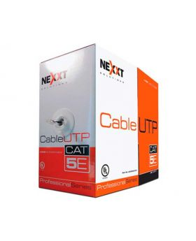 Nexxt Solutions Infrastructure Nexxt Cable UTP 4 Pairs CAT5e 1000 Ft. Stranded Gray