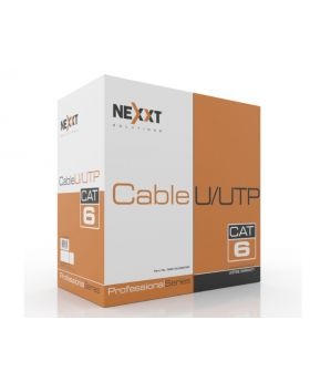 Nexxt Solutions UTP Cable 4 Pairs Cat6 Cat6 Bulk, U/UTP Cable, CMR Type 1000 Ft. Gray