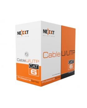 Nexxt Solutions UTP Cable 4 Pairs Cat6 Cat6 Bulk, U/UTP Cable, CMR Type 1000 Ft. Blue