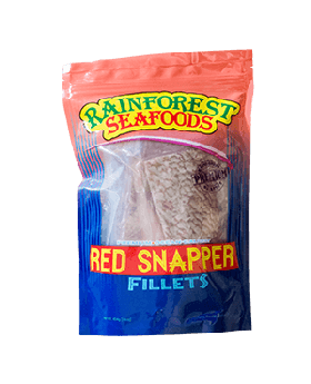 Rainforest Seafoods Frozen Red Snapper Fillet 908 g/2 lbs