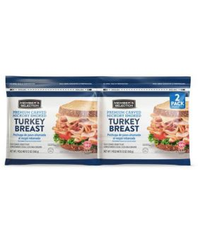 Member's Selection Premium Carved Hickory Smoked Turkey Breast 340 g/ 12 Oz 2 Pack