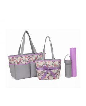 5 Piece Diaper Purple Bag