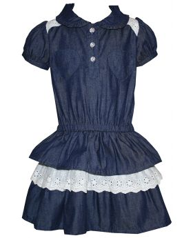 Denim 3 Tiered Dress