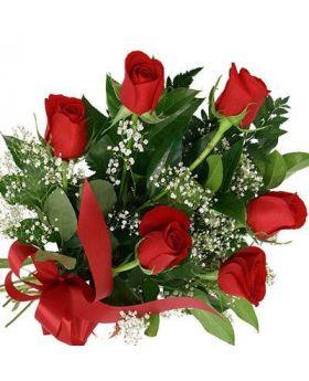 6 Roses Floral Arrangement