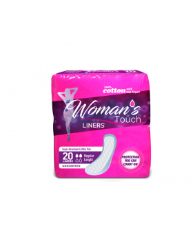 Woman's Touch Panty Liners - Super Absorbent & Ultra Thin