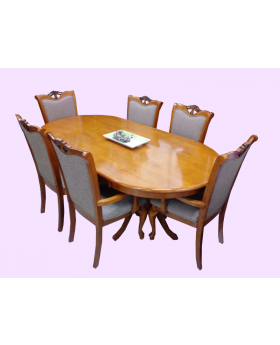 Roshley 6 Seat Oval Table Dining Room Set