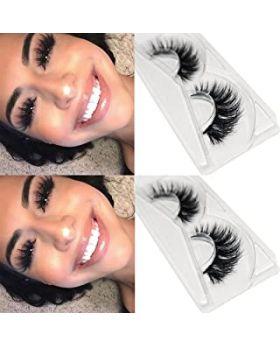 3D Mink Eyelashes Fluffy Soft Wispy Handmade False Eyelashes Dramatic Luxurious Soft for Women Bold (M09)