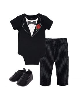 Bodysuit, Pants and Shoes, Tuxedo Rose