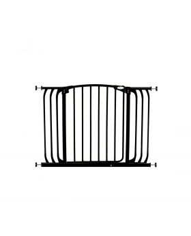 """Chelsea Extra Wide 38-42.5"""" Auto Close Metal Baby Gate - Black"""