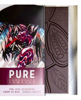 PURE 70% dark chocolate with Jerk Seasoning 3.5 oz/100 grams each
