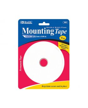 "980 Bazic Double-Sided Foam Mounting Tape 1""x200"""