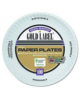 "9"" Gold Label Paper Plates, 300ct"