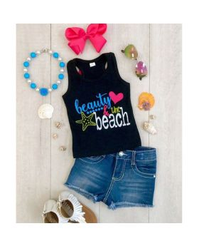 Fashion Sleeveless Printed Girls Sets