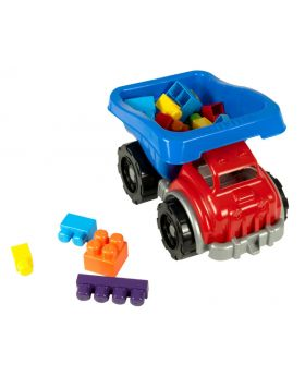A Ton of Blocks Dump Truck