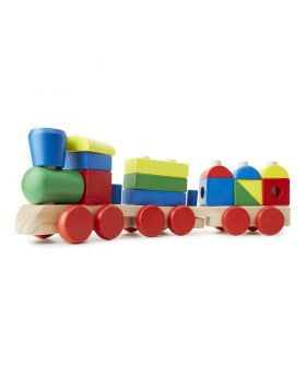 Wooden Toddler Train 18 Pieces