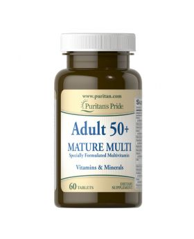 Puritan's Pride Adult 50+ Mature Multivitamin & Minerals 60 Tablets