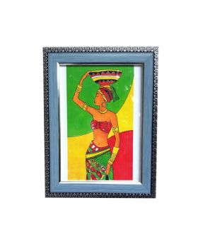 African Pride Creative Drawing Framed