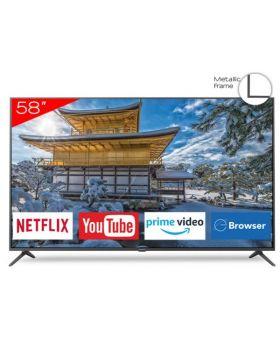 """AIWA AW58B4KF 58"""" 4K UHD LED Smart TV with Metallic Frame"""