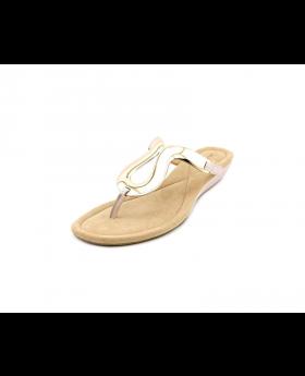 Alfani Women's Farynn Open Toe Casual T-Strap Sandals, Rose Gold, Size 6.5