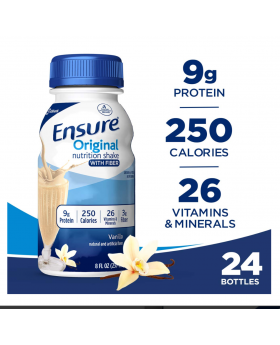 Ensure Original 24 Count Nutrition Shake Strawberry,8 fl oz,