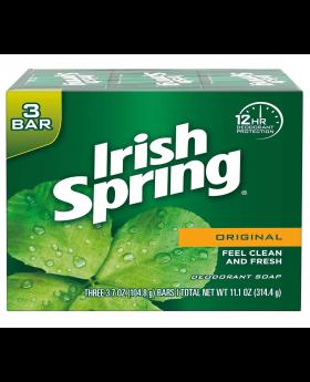 Irish Spring Deodorant Bar Soap, Original, 9 Bar.
