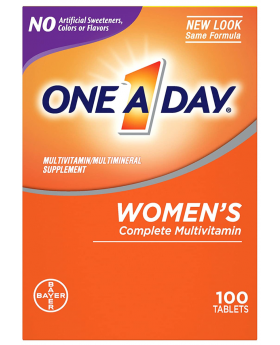 One-A-Day Women's Multivitamin Tablets, 100 Count.