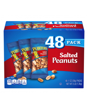 PLANTERS Salted Peanuts, 1 oz. Bags (48 Pack).