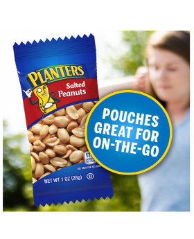 PLANTERS Salted Peanuts, 1 oz. Bags (24 Pack).
