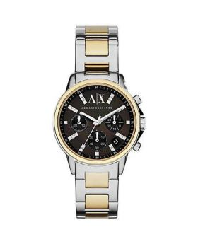 Armani Exchange AX4329 Womens Chronograph Two Tone Bracelet Strap Watch