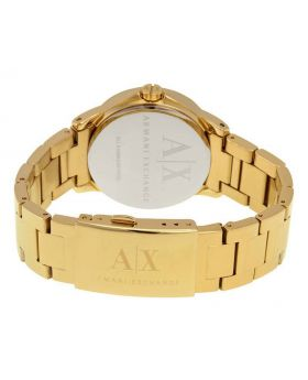Armani Exchange Crystal Dial Ladies Watch showing the watch band with clasp
