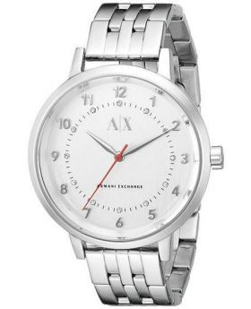 Armani Exchange Silver-Tone Dial Stainless Steel Ladies Watch