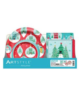 Artstyle Celebrate Party Pack of Disposable Plates 200 Count