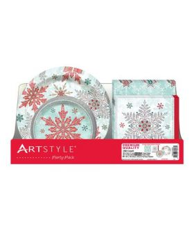 ArtStyle Party Pack of Disposable Plates & Napkins 200 Units
