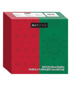 Artstyle Red/Green Napkins 150ct