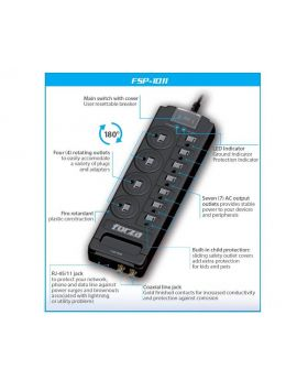 Forza - Surge suppressor - 11 Outlets