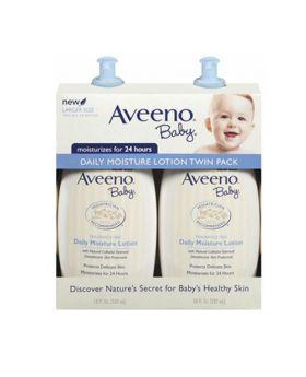 Aveeno Baby Daily Moisture Lotion 532ml x 2