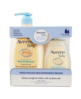 Aveeno Baby Wash & Shampoo 32 Fl. Oz. + 12 Fl. Oz.
