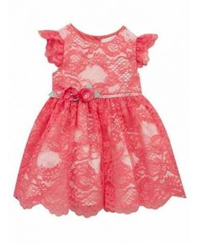Coral Baby Lace Dress