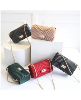 Frosted Jelly Shoulder Mini Bags