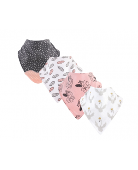 Bandana Bib With Teether, 4-Pack