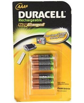 Duracell AAA Rechargeable Batteries, 6pk