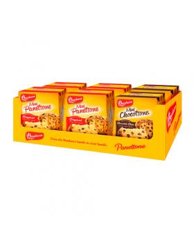 Bauducco Panettone and Chocottone Cakes 3.53 Oz. 6 Pack