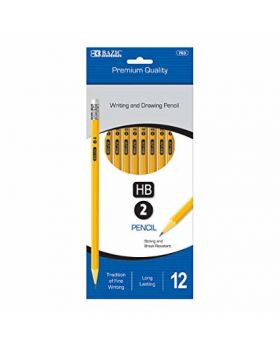 Bazic Premium Writing & Drawing Pencils 12 Pack