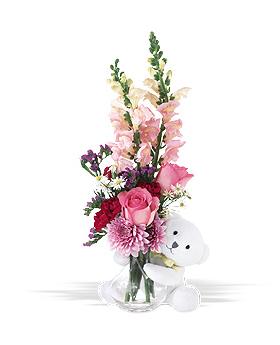 Bear Hug Floral Arrangement
